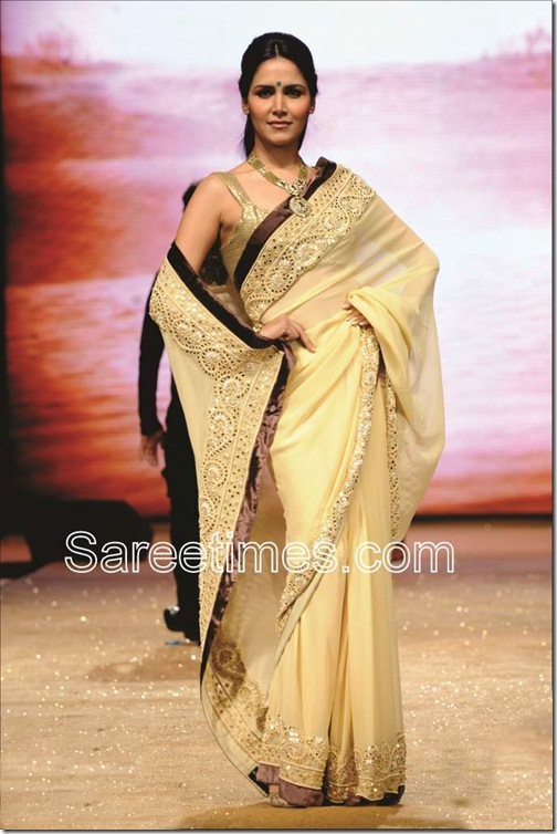 Cream_Designer_Saree