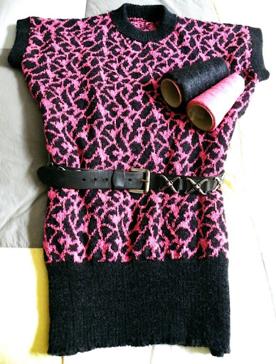 Tigerpulli in Pink