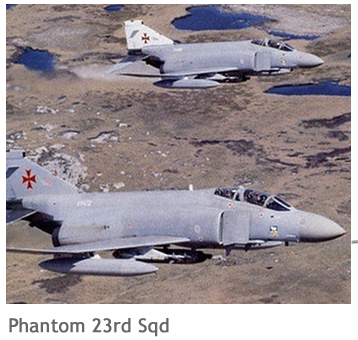 RAF en Malvinas Phantom23rdSqd