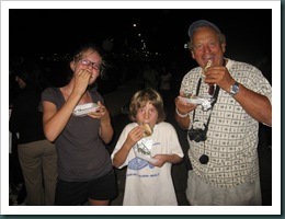 Danielle, Harrison and Leo Brodeur, our friend from Chat de Mer