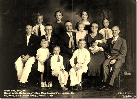 Hood family 1936