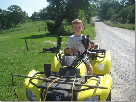 Austin on the 4-wheeler