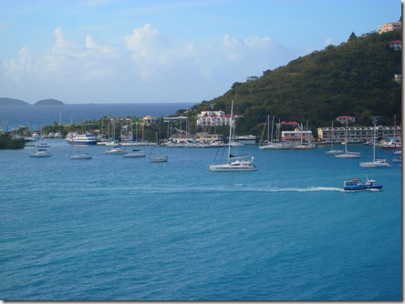View of Tortola from the ship