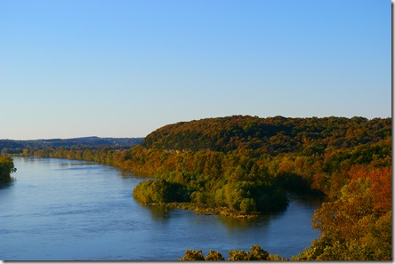 Osage River and Painted Rock bluff from the path's Outlook Deck