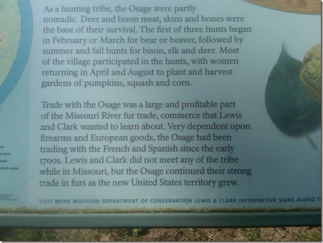 recognition of the Osage Indians's contribution to the trade