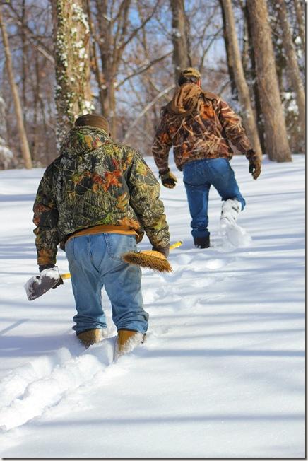 Jim & Tracy knee deep in snow