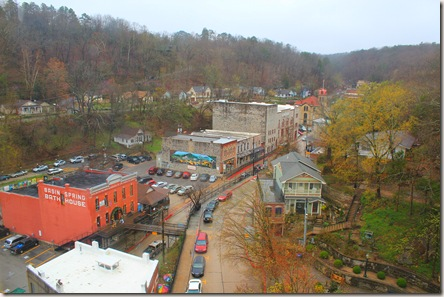Eureka Springs from a hillside