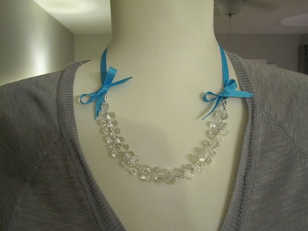 interchangeable ribbon necklace