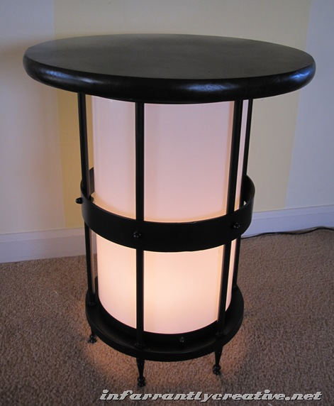 lighted end table