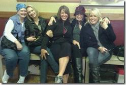 At the tattoo parlor: Jen, Kathy, Kim, Brenda, Lori