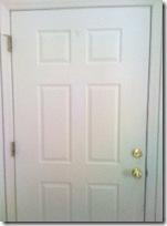 boring, blah, plain front door