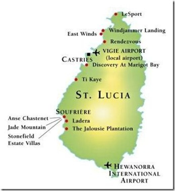 st lucia - Map