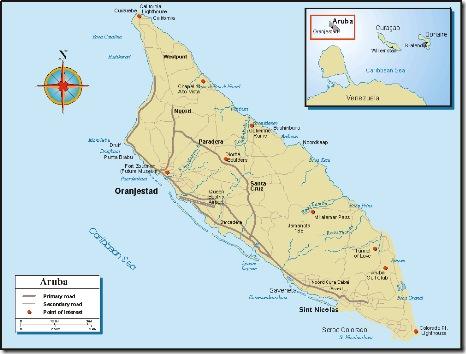 Aruba - Map