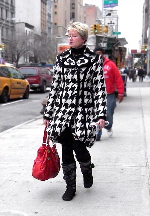 w huge hounds tooth coat
