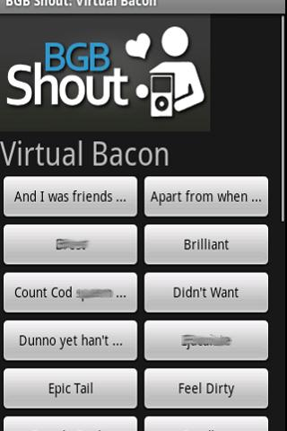 BGB Shout: Virtual Bacon