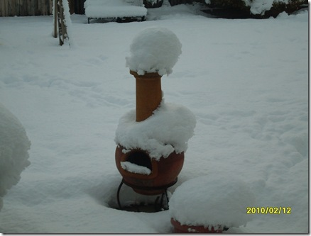 Chiminea aftersnow