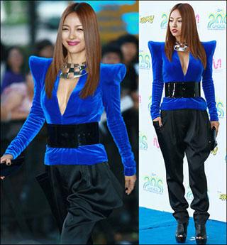 Lee Hyori ถูกรับเลือกว่าแต่งตัวแย่ที่สุดในงาน Mnet 20's Choice | www.kpopza.com