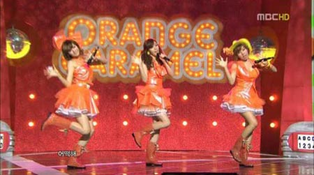 คลิปคอนเสิร์ต Orange Caramel ในรายการ Music Core