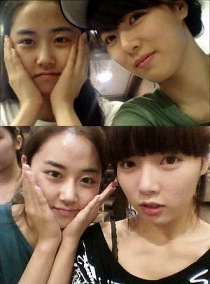 หน้าใส ๆ ของ HyunA และ Gayoon (4minute)