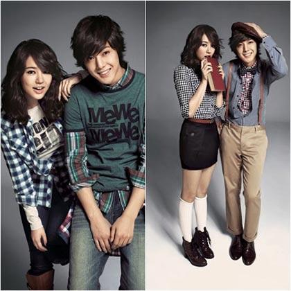 Yoon Eun Hye และ Kim Hyun Joong ถ่ายแบบให้ Basic House