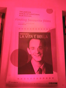 Jameson Film Festival Poster bearing picture of me with La Vita é Bella (Life is Beautiful) listed as my favourite film.