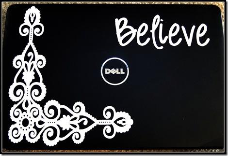 Believe Laptop Decal