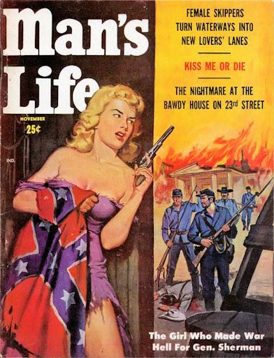 Men's Adventure Magazines: Risque Rebel Belles and Hot Yankee ...
