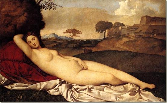 Vênus Adormecida, 1510 - Giorgione