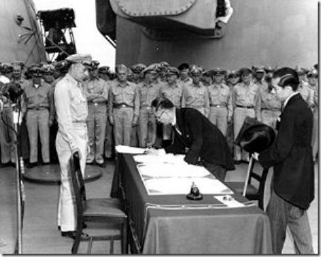 Assinatura da Rendição do Japão aos EUA