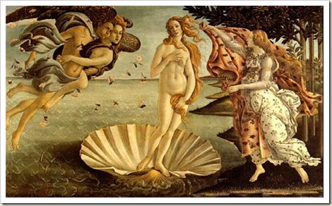 Nascimento da Vênus, Botticcelli, 1482 - Uffizi. Florença