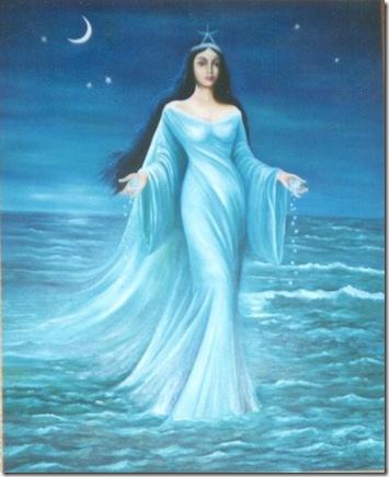 Iemanja, senhora das águas em mãe dos deuses e dos seres humanos.