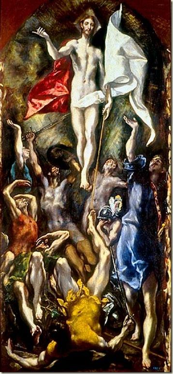Ressurreição, El Greco, c. 1597-1604. Museu do Prado, Madrid, Espanha