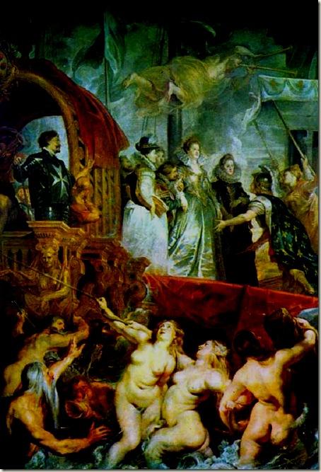 Marie Chega a Marselha, Rubens 1622-25, Louvre, Paris
