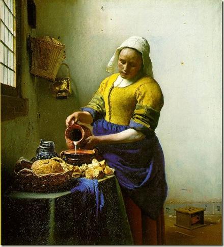 A Criada de Cozinha, Vermeer, c. 1658
