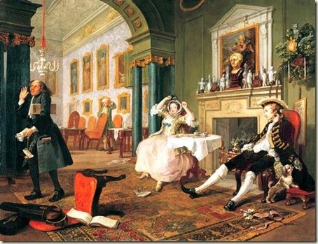Mariage à la Mode, Hogarth. c. 1745.