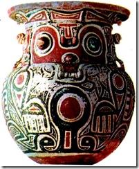 cerâmica Marajoara , encontrada em Rio Anjás, Ilha de Marajó