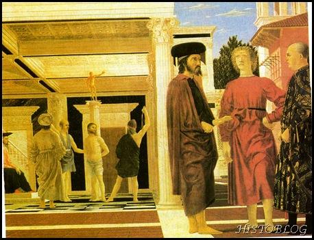 estudo de perspectiva -Piero della Francesca - renascimento