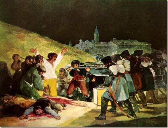 O 3 de maio de 1808,  Francisco Goya, 1814