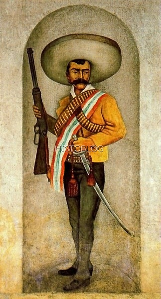 Emiliano Zapata, por Diego Rivera