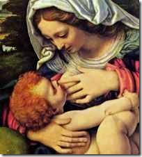 Madonna nursing