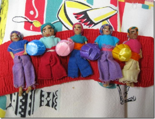 Sash with worry dolls