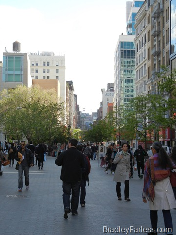 Union Square Park, facing south along University Place.