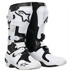 Motocross Boots Alpinestar Tech 10 White Black