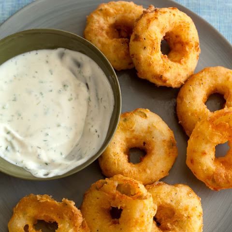 Potato Rings with Homemade Buttermilk Ranch Dipping Sauce