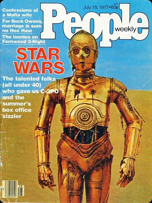 cool star wars photos c3p0 people magazine 1977