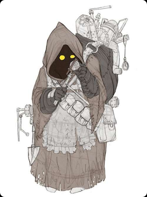 cool star wars jawa scavenger drawing