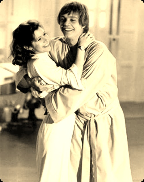 carrie fisher mark hammil cuddle inappropriate touching