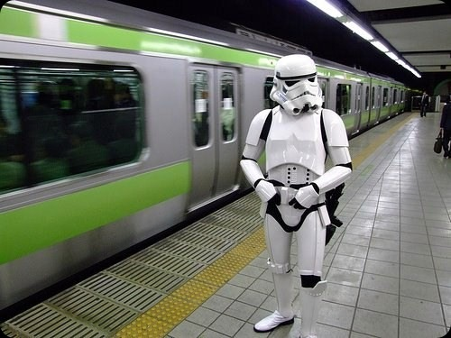cool star wars photos stormtrooper at train