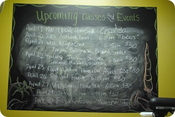 Schedule of Classes and Events