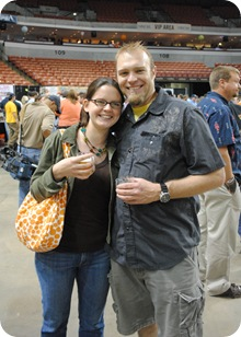 Megan and Mike at beer festival